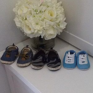 Three pairs of shoes for baby boy